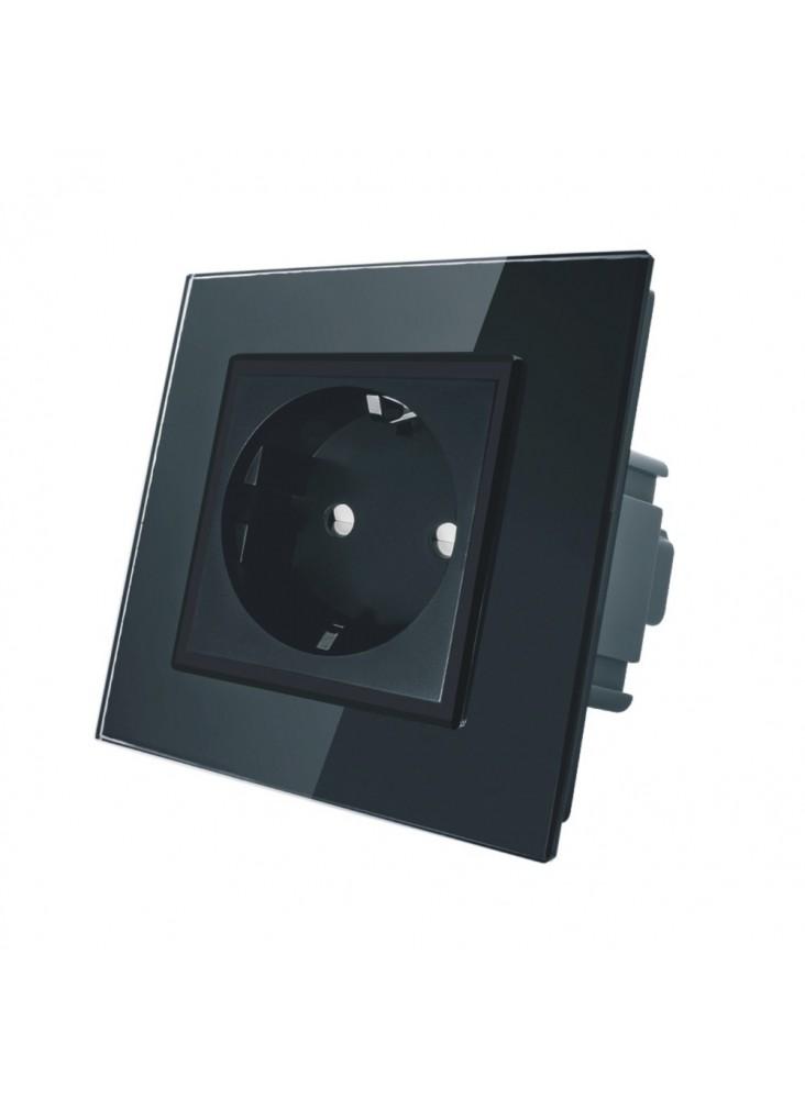 Gniazdo wtykowe schuko 230V Livolo | Czarny