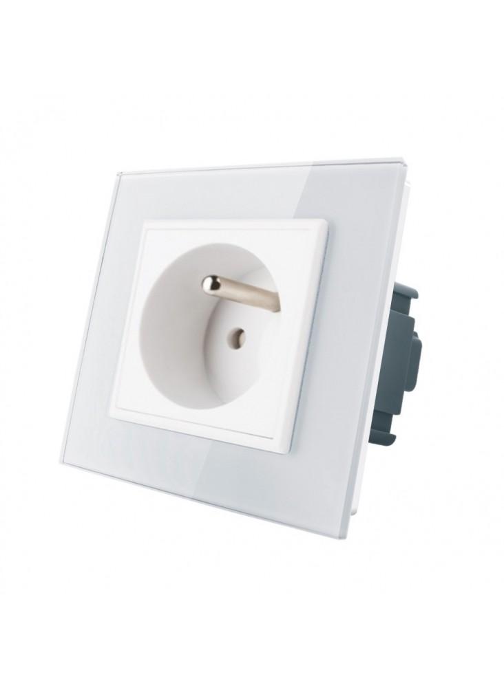Gniazdo wtykowe z bolcem 230V Livolo | Biały