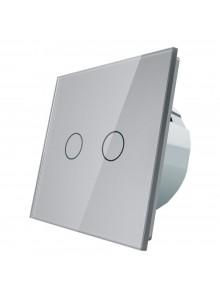 Włącznik dotykowy podwójny LIVOLO VL-C702 | Szary
