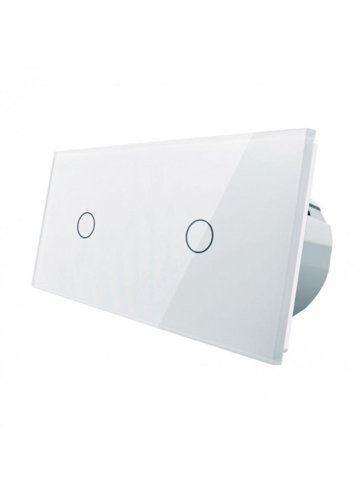 Włącznik dotykowy 2x pojedynczy LIVOLO VL-C7011   Biały