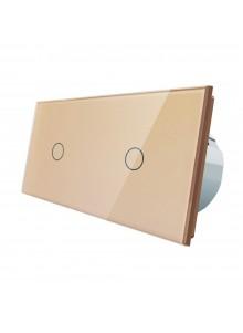 Włącznik dotykowy 2x pojedynczy LIVOLO VL-C7011 | Szampański