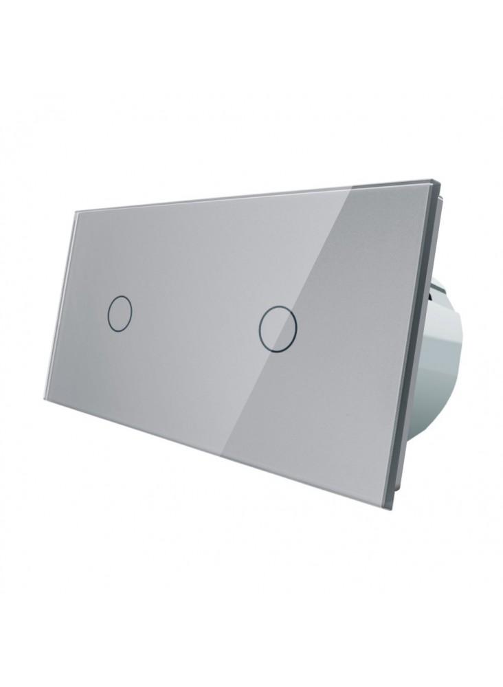 Włącznik dotykowy 2x pojedynczy LIVOLO VL-C7011   Szary