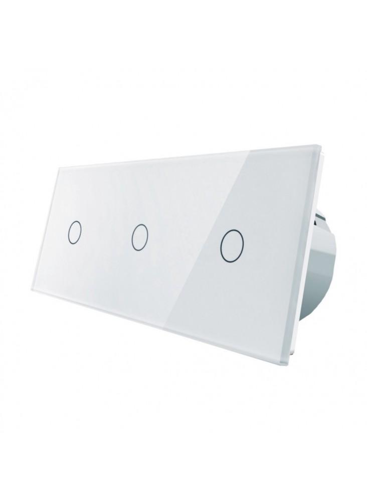 Włącznik dotykowy potrójny (1+1+1) LIVOLO VL-C70111   Biały