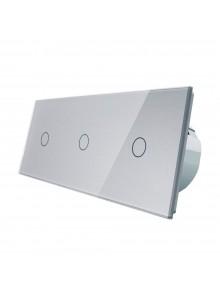 Włącznik dotykowy potrójny (1+1+1) LIVOLO VL-C70111 | Szary