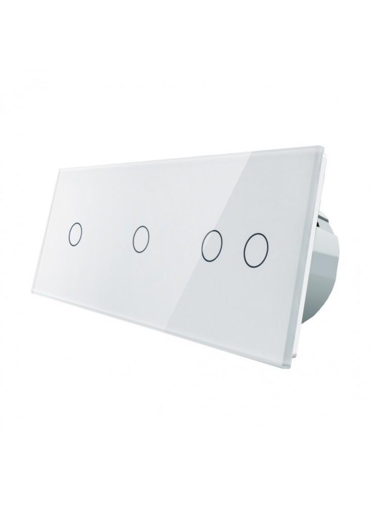 Włącznik dotykowy poczwórny (1+1+2) LIVOLO VL-C70112 | Biały