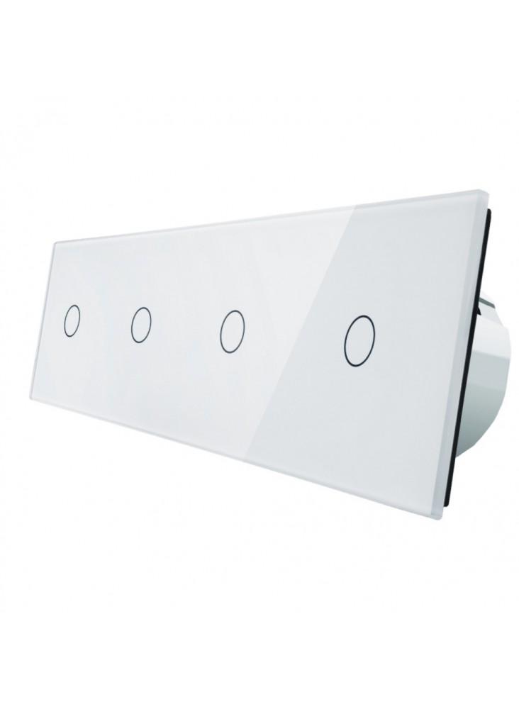 Włącznik dotykowy poczwórny (1+1+1+1) LIVOLO VL-C701111 | Biały
