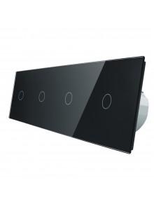 Włącznik dotykowy poczwórny (1+1+1+1) LIVOLO VL-C701111 | Czarny