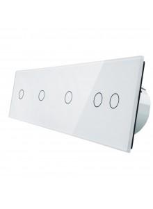 Włącznik dotykowy pięciokrotny (1+1+1+2) LIVOLO VL-C701112 | Biały