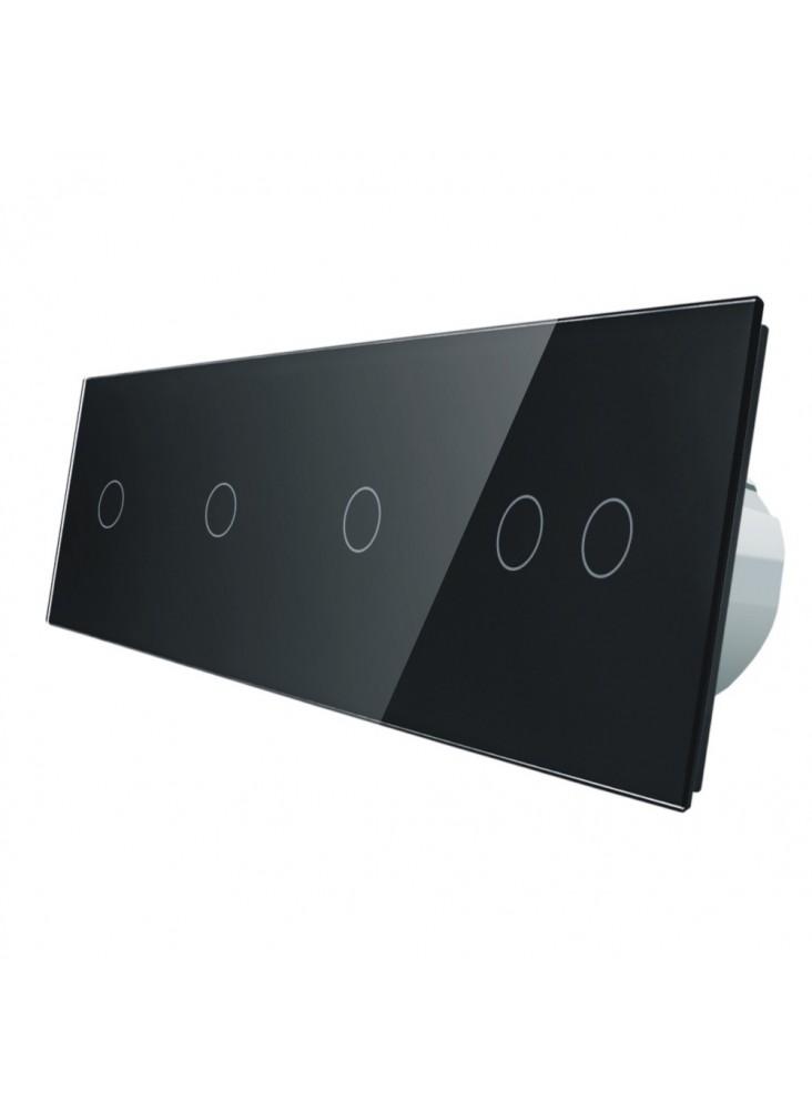 Włącznik dotykowy pięciokrotny (1+1+1+2) LIVOLO VL-C701112 | Czarny