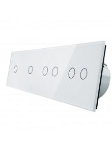 Włącznik dotykowy sześciokrotny (1+1+2+2) LIVOLO VL-C701122 | Biały