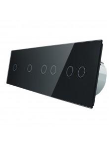 Włącznik dotykowy sześciokrotny (1+1+2+2) LIVOLO VL-C701122 | Czarny