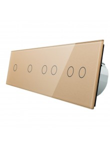Włącznik dotykowy sześciokrotny (1+1+2+2) LIVOLO VL-C701122 | Szampański