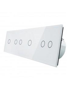 Włącznik dotykowy sześciokrotny (1+2+1+2) LIVOLO VL-C701212 | Biały
