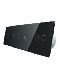Włącznik dotykowy sześciokrotny (1+2+1+2) LIVOLO VL-C701212 | Czarny