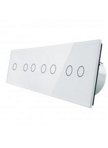 Włącznik dotykowy siedmiokrotny (1+2+2+2) LIVOLO VL-C701222 | Biały