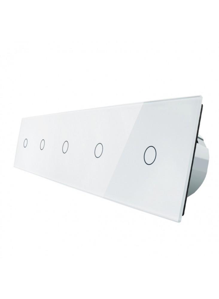 Włącznik dotykowy pięciokrotny (1+1+1+1+1) LIVOLO VL-C7011111 | Biały