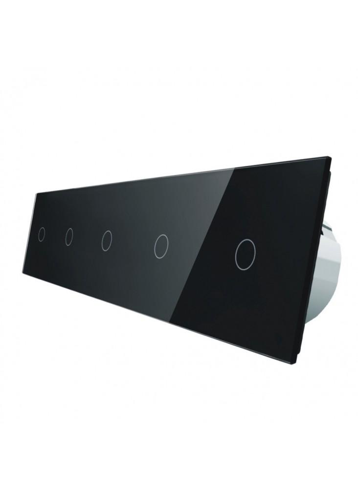 Włącznik dotykowy pięciokrotny (1+1+1+1+1) LIVOLO VL-C7011111   Czarny