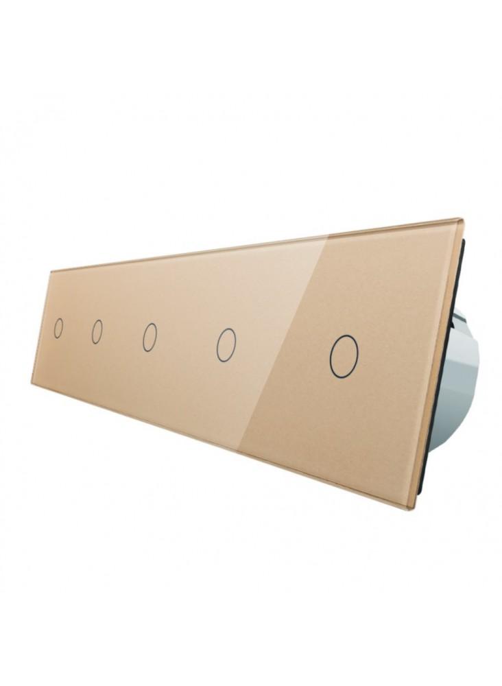 Włącznik dotykowy pięciokrotny (1+1+1+1+1) LIVOLO VL-C7011111   Szampański