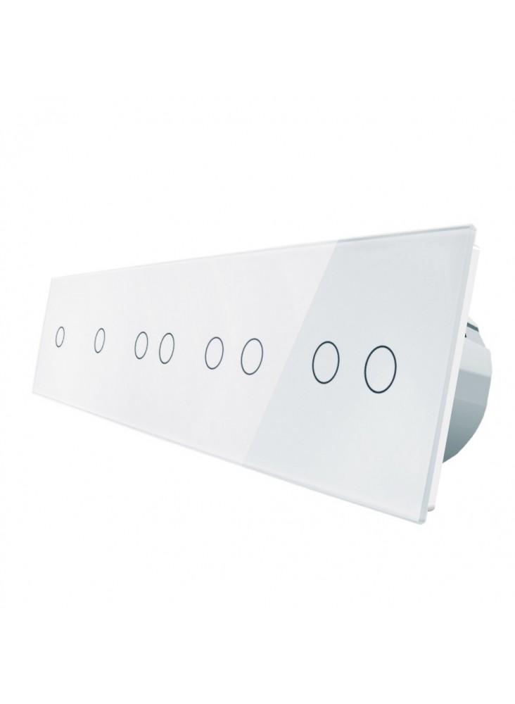 Włącznik dotykowy ośmiokrotny (1+1+2+2+2) LIVOLO VL-C7011222 | Biały