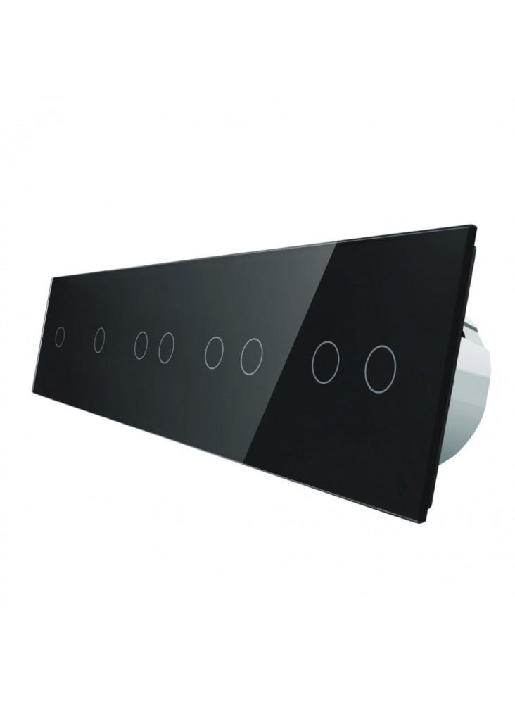 Włącznik dotykowy ośmiokrotny (1+1+2+2+2) LIVOLO VL-C7011222 | Czarny