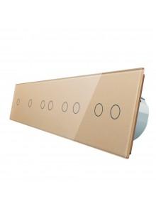 Włącznik dotykowy ośmiokrotny (1+1+2+2+2) LIVOLO VL-C7011222 | Szamp.