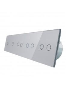Włącznik dotykowy ośmiokrotny (1+1+2+2+2) LIVOLO VL-C7011222 | Szary