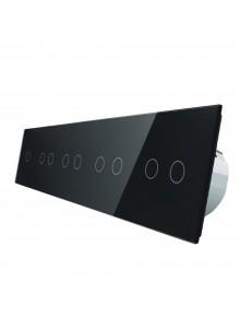 Włącznik dotykowy dziewięciokrotny (1+2+2+2+2) LIVOLO VL-C7012222 | Czarny
