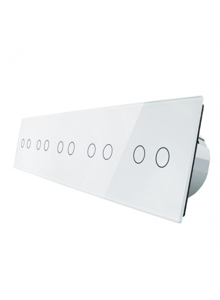 Włącznik dotykowy dziesięciokrotny (2+2+2+2+2) LIVOLO VL-C7022222|Biały