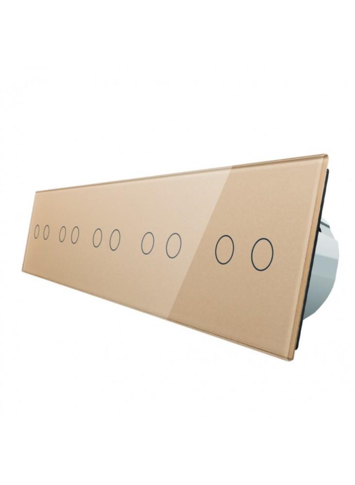 Włącznik dotykowy dziesięciokrotny (2+2+2+2+2) LIVOLO VL-C7022222 Szamp.
