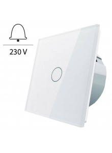 Włącznik dotykowy pojedynczy impulsowy LIVOLO - VL-C701IH | Biały
