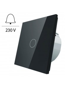 Włącznik dotykowy pojedynczy impulsowy LIVOLO - VL-C701IH | Czarny