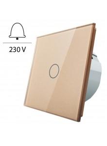 Włącznik dotykowy pojedynczy impulsowy LIVOLO - VL-C701IH | Szampański