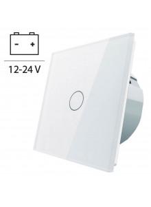 Włącznik dotykowy pojedynczy LIVOLO 12V DC VL-C701C | Biały