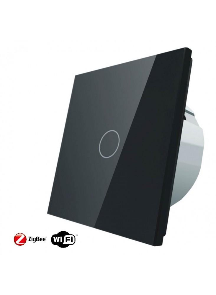 Włącznik dotykowy pojedynczy schodowo-krzyżowy LIVOLO ZigBEE WiFi   Czarny