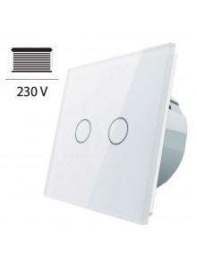 Włącznik dotykowy roletowy LIVOLO VL-C702W | Biały
