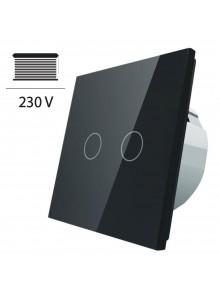 Włącznik dotykowy roletowy LIVOLO VL-C702W | Czarny