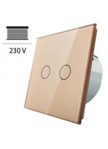 Włącznik dotykowy roletowy LIVOLO VL-C702W | Szampański