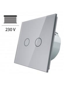 Włącznik dotykowy roletowy LIVOLO VL-C702W | Szary