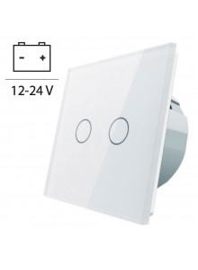 Włącznik dotykowy podwójny LIVOLO VL-C702C 12V DC | Biały