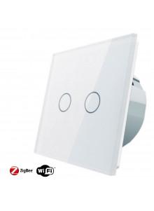Włącznik dotykowy podwójny LIVOLO ZigBEE WiFi | Biały