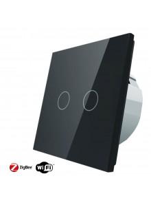 Włącznik dotykowy podwójny LIVOLO ZigBEE WiFi | Czarny