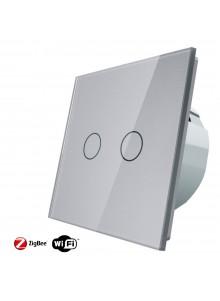 Włącznik dotykowy podwójny LIVOLO ZigBEE WiFi | Szampański
