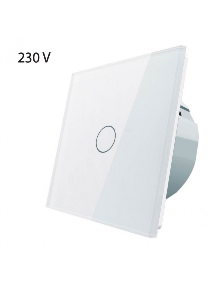 Włącznik dotykowy pojedynczy LIVOLO VL-C701 | Biały