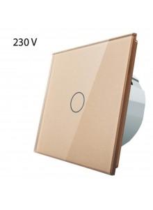 Włącznik dotykowy pojedynczy LIVOLO VL-C701 | Szampański