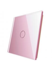 Pojedynczy szklany panel LIVOLO 701 | Różowy