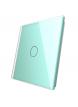 Pojedynczy szklany panel LIVOLO 701 | Zielony