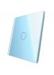 Pojedynczy szklany panel LIVOLO 701 | Niebieski