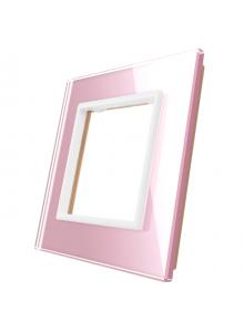 Pojedyncza szklana ramka LIVOLO GPF-1 Różowy