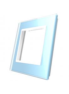 Pojedyncza szklana ramka LIVOLO GPF-1 Niebieski