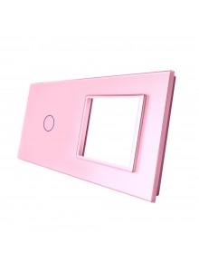 Podwójny panel szklany LIVOLO 701G Różowy